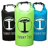 Dry Bag 'Funny Tree®'. Wasserfester (IPx6) Premium Packsack 10 Liter / 20 Liter. Idealer Begleiter beim SUP, Tauchen, Kajak, Kanu, Schwimmen, Strand, Bootfahren, Camping um deine Wertsachen vor Nässe zu schützen.