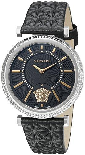 Versace Damen Chronograph Quarz Uhr mit Leder Armband VQG020015