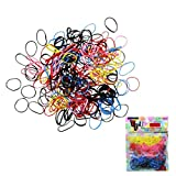 Tonsee 500pcs Fashion Rubber Hairband Rope Ponytail Holder Elastic Hair Band Ties