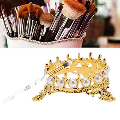 Nagel Stifthalter Nail Art Stifthalter Gold Stifthalter für Perlen - Nail Art Stifte Pinsel Rack Kronenform zum Zeichnen Stifte zum Selbermachen Halter(Gold) (Nagel-rack Professionelle)