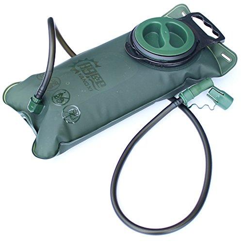 Trinkblase – 2L (70oz) lecksicher BPA-frei FDA genehmigt, leicht zu reinigen Große Öffnung, Wandern Camping Klettern Radfahren Trekking Angeln Laufen Reisen – tragbare TPU Tasche, Rucksack-Trinksystem