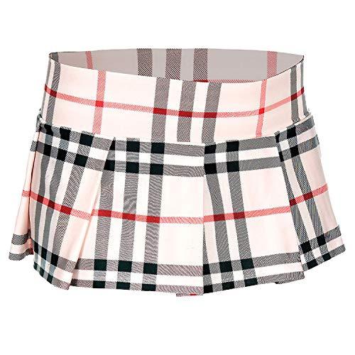 Music Legs Mini jupe plissée, motif écossais
