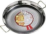 Best Acero inoxidable cookwares - La Ideal Paella Sartén de Acero Inoxidable, Plata Review