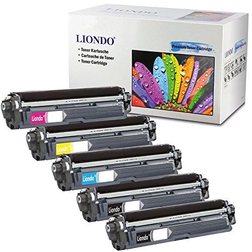 Liondo 5er-Pack Toner Drucker-Patronen kompatibel zu Brother TN-241BK TN-245C TN-245Y TN-245M HL-3150CDW HL-3170CDW DCP-9022CDW MFC-9342CDW MFC-9142CDN MFC-9332CDW