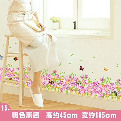Kang adesivo murale camera da letto adesivo da pareti muri decalcomanie mobili smontabili soggiorno vinile linea di battiscopa decalcomanie vignetta autoadesiva in rosa in lei
