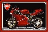 ComCard Ducati Supermono 1993-1997 75PS Motorrad, Motor Bike, Motorcycle Schild aus Blech, Metal Sign, tin