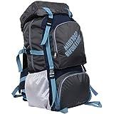 POLE STAR ROCKY Polyester 60 Lt Grey Rucksack/ Travel / Hiking / Weekend backpack bag