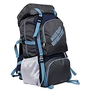 POLESTAR Rocky Polyester 60 Lt Grey Rucksack/Travel/Hiking/Weekend Backpack Bag