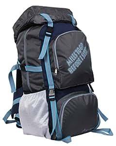 "POLE STAR "" ROCKY "" 60 Lt Grey Rucksack I Hiking backpack"