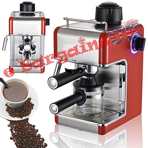 Sentik Profesional Expreso Capuccino Máquina De Café Hogar - Oficina - Rojo