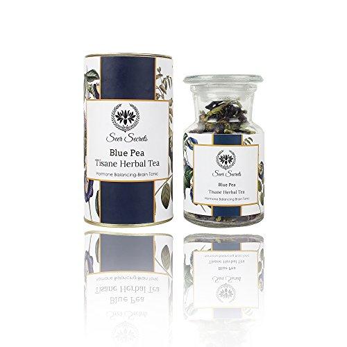 Seer Secrets Blue Pea Tisane Herbal Tea│Hormone Balancing Brain Tonic (20 GM)