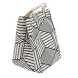 HM&DX Portable isolato bag lunch box impermeabile riutilizzabili pranzo tote cooler per campeggio picnic scuola -bianca 17.5x17.5x26cm