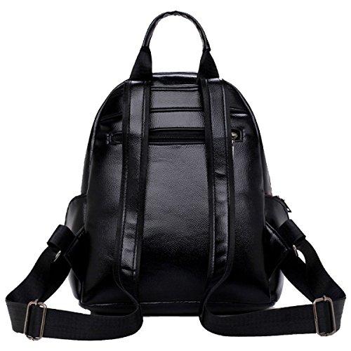 Yy.f Borsa A Tracolla Il Sacchetto Del Vento College Di New Spalle Zaino Femminile Borse Casuali Di Modo Della Signora Borse Colore Solido Bag Black