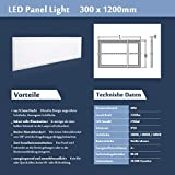 LED Panel Wandleuchte 120X30 Ultras...