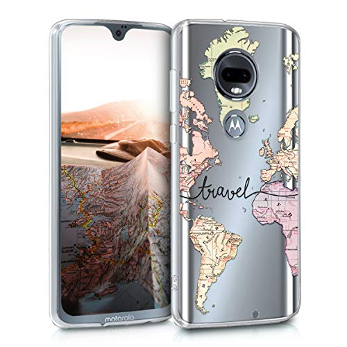 kwmobile Motorola Moto G7 / Moto G7 Plus Hülle - Handyhülle für Motorola Moto G7 / Moto G7 Plus - Handy Case in Schwarz Mehrfarbig Transparent