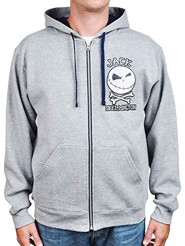 Disney Hoodie Jack Skellington Nightmare Before Christmas Sweatshirt (Medium)