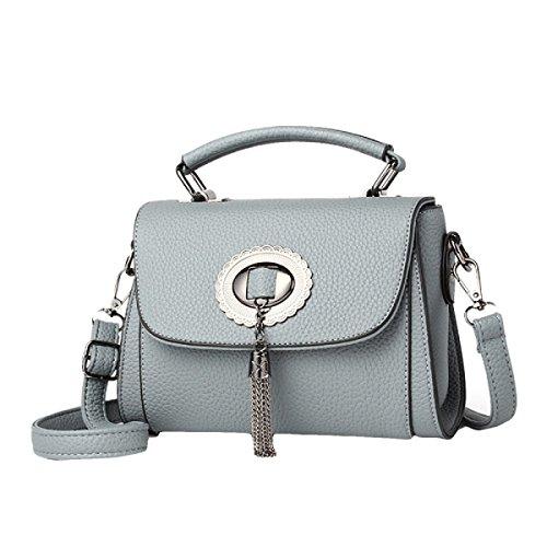 Borse Piccole Borse Versione Coreana Del Nuovo Sacchetto Di Spalla Messenger Bag Messenger Bag Grey