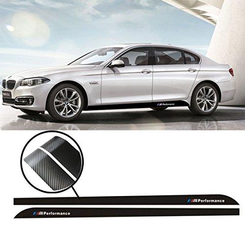 Carbon-faser-tuch (Kaizen Auto Aufkleber 2x 2,15m Sport M Performance Carbon Faser Seite Rock Aufkleber Streifen Aufkleber Für BMW 345Serie F30F31F32F33F36E60E61 - Carbon Fiber)
