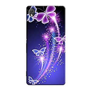 GLOWING BUTTERFLY DESIGN BACK COVER FOR SONY XPERIA Z3