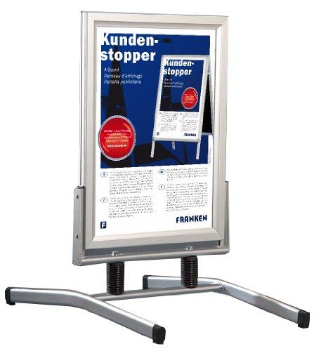 Preisvergleich Produktbild Franken Alu Kundenstopper Swingmaster DIN A1 841x594 mm, Infotafel mit Schnellwechselr
