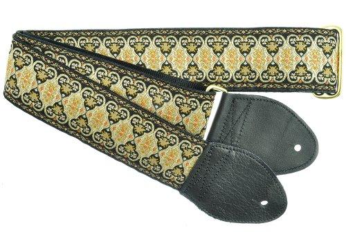 Souldier Custom gs0112bk05bk handgefertigt Persischen Teppichs Gitarrengurt, schwarz gold