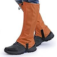 OUTAD Polainas Impermeable al Aire Libre y Polainas Prueba de Viento Guardia de Protección para Las Piernas Senderismo Esquí Escalada (color naranja, L)