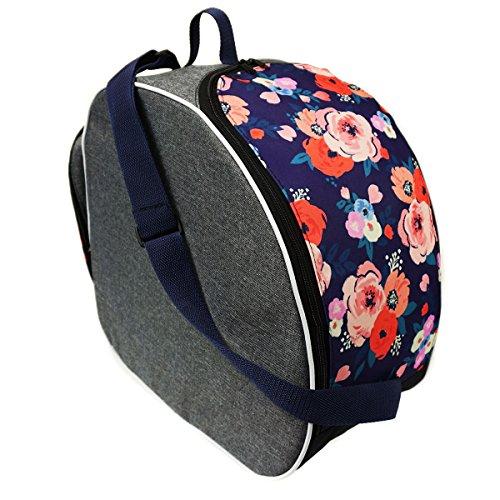 Bellissima e capiente borsa porta scarponi SCI SNOWBOARD BOOT sacchetto della copertura per scarponi da sci fiori Flowers [054]