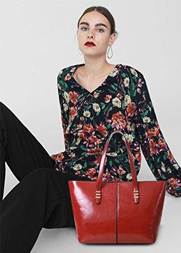 NICOLE&DORIS Mode Elegante Donna Borse a Mano Tote Borse a Spalla Borse a Tracolla Borsetta Borsa Sac à Bandoulière Sacchetto Grande PU Blu Rosso
