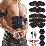 Hieha Electroestimulador Muscular, Abdominales ABS Estimulador Muscular con...