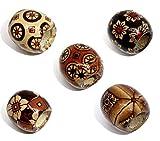10MM Holz-perlen grosses loch gemalte Fass Design gemischte Farben Holzperlen 100 Stueck