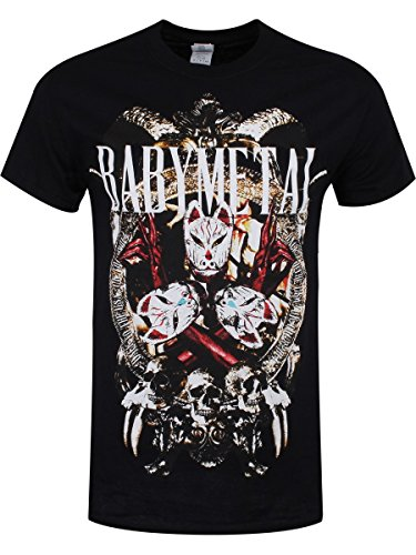 Babymetal T-shirt Fox Masks da uomo in nero