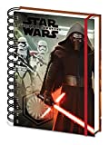 Pyramid Star Wars, Kylo Ren and Stormtroopers A5 Wiro Notebook. Episode VII, The Force Awakens