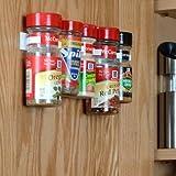 Organiseur à épices pour porte de placard de 20 Clips-Blanc (1 'H x 1,5' x 10 ')
