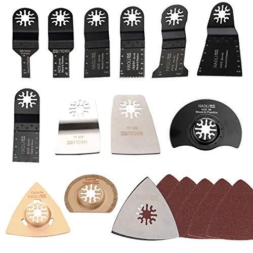 Crazywind - Juego de 38 piezas de herramientas oscilantes para sierra multiherramienta Fein Bosch Dremel Makita