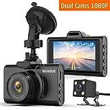 Caméra de Voiture, WiMiUS Double Dash Caméra Voiture Embarquée Enregistreur de...