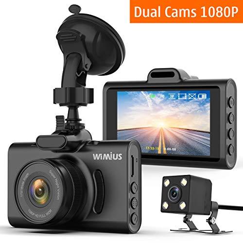 Caméra de Voiture, WiMiUS Double Dash Caméra Voiture Embarquée Enregistreur de Conduite Full HD...