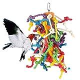 Abestbox Giocattoli Grandi per la Gabbia di Pappagallo/Uccelli , Giocattolo Preening con coloranti alimentari naturali