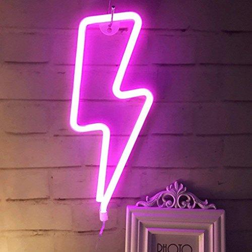 Neonlicht, LED-Schild, dekoratives Licht, Festzelt, Wanddekoration für Chistmas, Geburtstagsparty, Kinderzimmer, Wohnzimmer, Hochzeit, Party-Dekoration, Lightning-purple Pink, 13.38