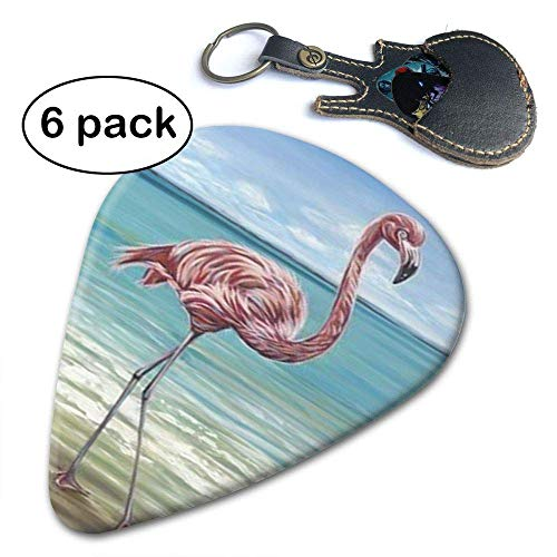 Beach Walker Pink Flamingo Celluloid 6 Pack Best Stocking Stuffer Gifts For Men Women Guitarist.71mm