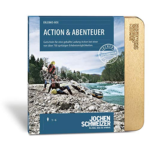 Jochen Schweizer Erlebnis-Box 'Action & Abenteuer', mehr als 730 Erlebnisse für 1-2 Personen, Gutschein mit Geschenkbox