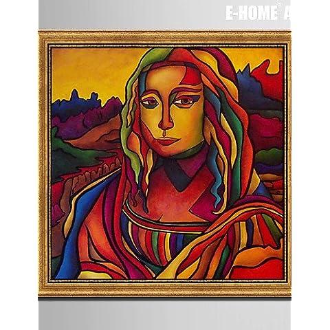 e-Home enmarcado arte de la lona, ??el retrato de una impresión de la lona enmarcada mujer