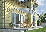 Palram Feria Terrassenüberdachung, weiß, 307 x 295 x 305 cm