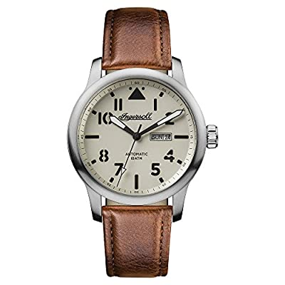 Ingersoll Men's The Hatton Automatic Watch with Cream Dial and Brown Leather Strap I01301
