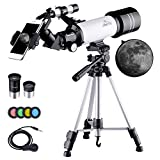 BEBANG Kids Telescope, Portable 70mm Refractor Telescope for Kids and Astronomy Beginners