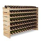 UEnjoy Holz Weinregal 91 Flaschen Weinständer XXL Flaschenregal Vintage 130 x 30 x 82