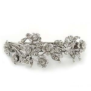 Bridal Wedding Prom Silver Tone Diamante 'Intertwined