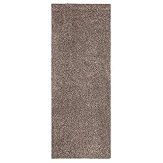 andiamo Samson Plain Floor Mat, Washable at 30 °C, granite, 67x180cm