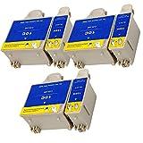 Ouguan® 6x (3 Noir + 3 Tri-colore) Kodak 10 10B 10C XL Cartouche d'encre Compatible pour Kodak ESP3 5 7 9 3250 5210 5250 7250 9250 Office 6150 EASYSHARE 5100 5300 5500 Hero 6.1 7.1 9.1