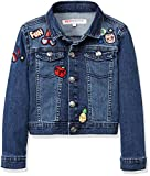 RED WAGON Mädchen Jacke Badge Denim Jacket, Blau (Multi), 104 (Herstellergröße: 4 Jahre)