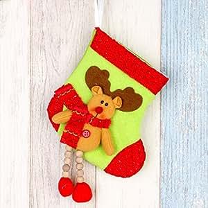 Vollter Bella calza di Natale Babbo Natale dei cervi del pupazzo di neve decorazione d'attaccatura calzino Bag